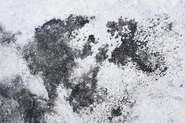 Plâtre et teinture gris grossier.