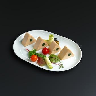 Plats de la cuisine russe traditionnelle. restaurant servant