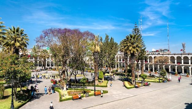 Plaza de armas d'arequipa au pérou