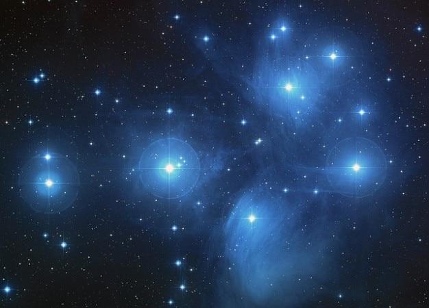 Pleiades amas amas d'étoiles