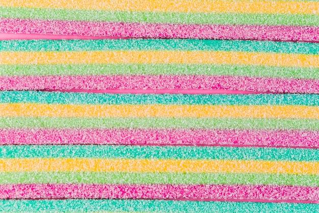 Plein cadre photo de bonbons de sucre colorés