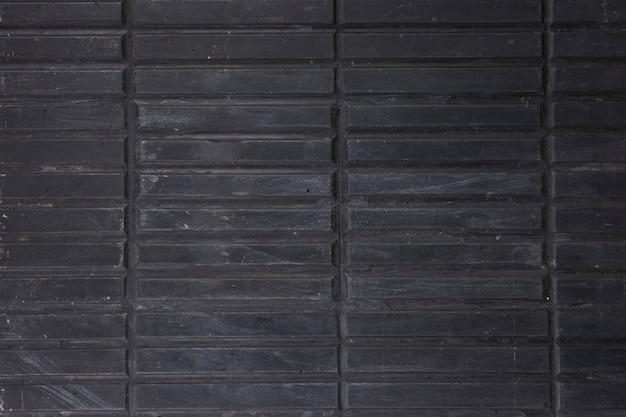 Plein cadre de rayures en bois noir
