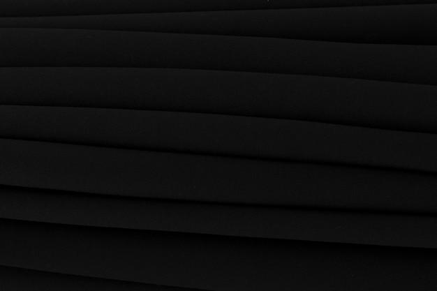 Plein cadre de rideau noir plié
