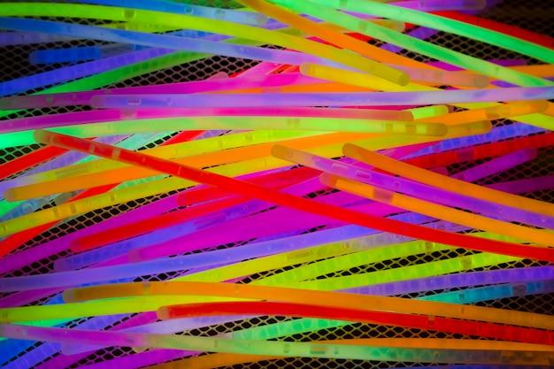 Plein cadre d'un tube lumineux néon