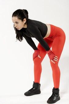 Plein coup de femme sportive avec concept sport