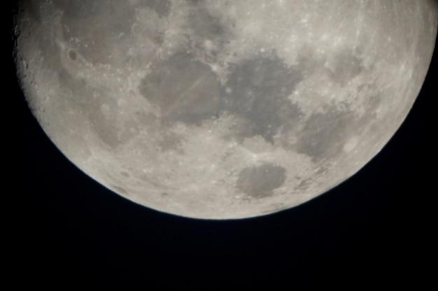 Pleine lune dans le ciel, lac des bois, ontario, canada