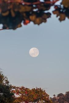 Pleine lune à rio de janeiro, brésil.