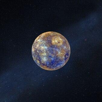 Pleine super lune avec des étoiles dans l'espace