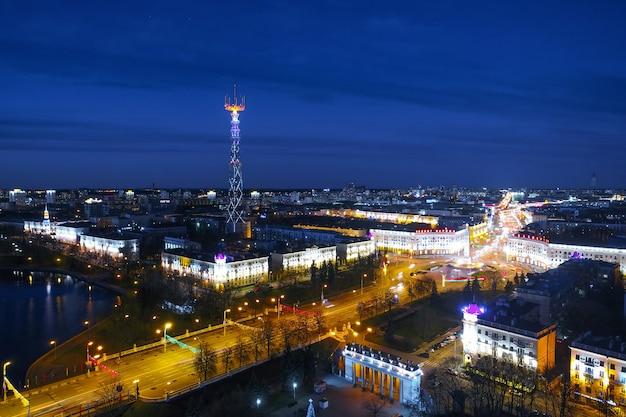 Plosca pieramohi (place de la victoire) à minsk, biélorussie
