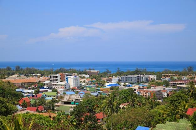 Une des plus belle vue de phuket en thaïlande. beau paysage de phu ket en thaïlande.