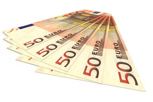 Plusieurs billets en euros se trouvent l'un sur l'autre