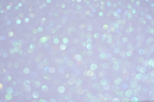 Plusieurs cercles flous de lumière bokeh de noël