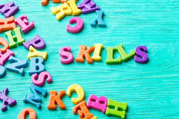 Plusieurs lettres de couleur