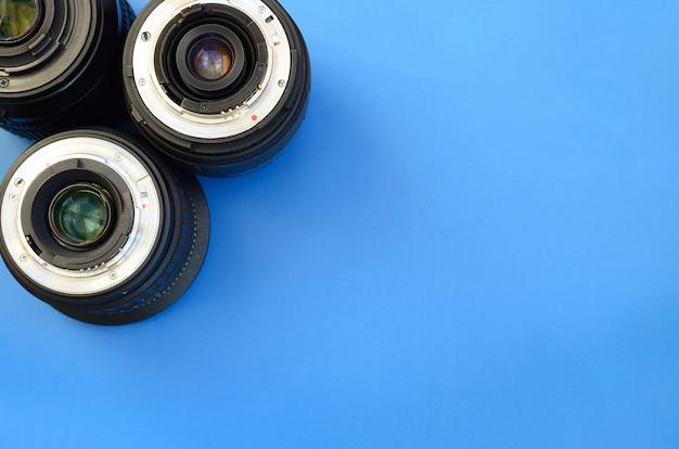 Plusieurs objectifs photographiques