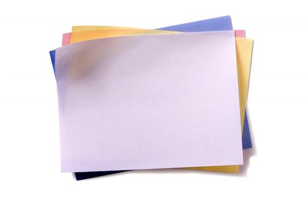 Plusieurs post collant notes différentes couleurs