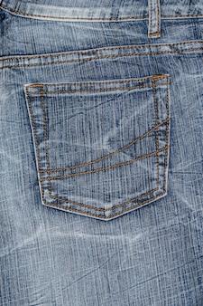 Poche en jean bleu jean