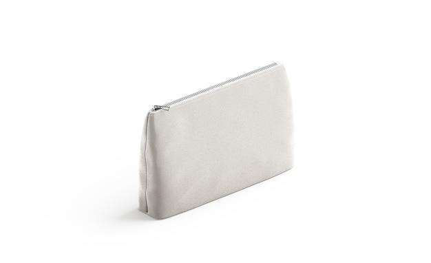 Pochette en toile vierge pour cosmétiques maquette sac d'esthéticienne en lin vide avec maquette zippée