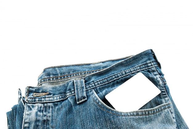 Pocket avec une carte de crédit ou une carte téléphonique ou une carte de visite