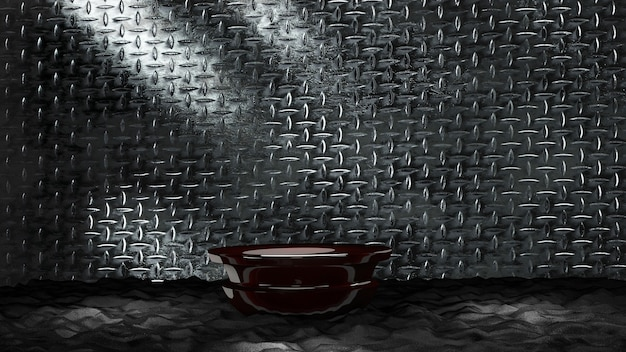 Podium 3d métallique avec fond de diamant