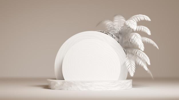 Podium 3d pour présentation packaging et cosmétique