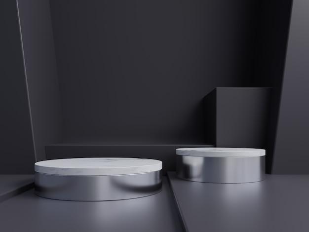 Podium abstrait pour placer des produits et pour placer des prix avec dark.