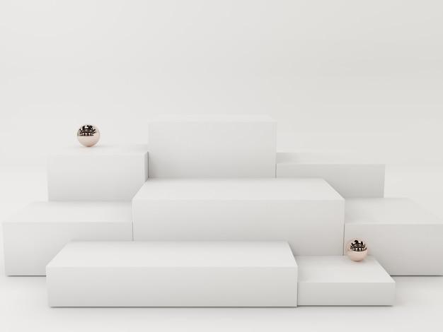 Podium d'affichage de produit blanc, abstrait