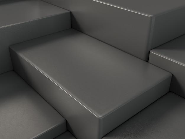 Podium d'affichage de produit noir, abstrait