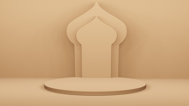 Podium et arc arabe