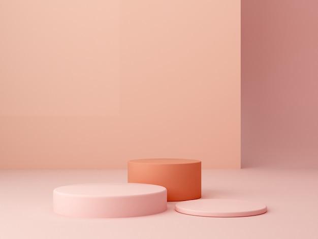 Podium de boîtes hexagonales minimales. scène aux formes géométriques.