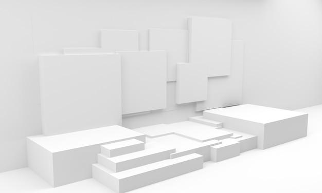Podium en composition abstraite