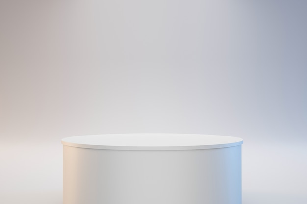 Podium cylindrique moderne