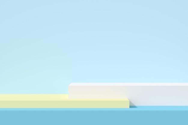 Podium de forme géométrique de couleur pastel pour le produit.