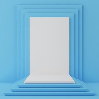 Podium de forme géométrique pour le produit.
