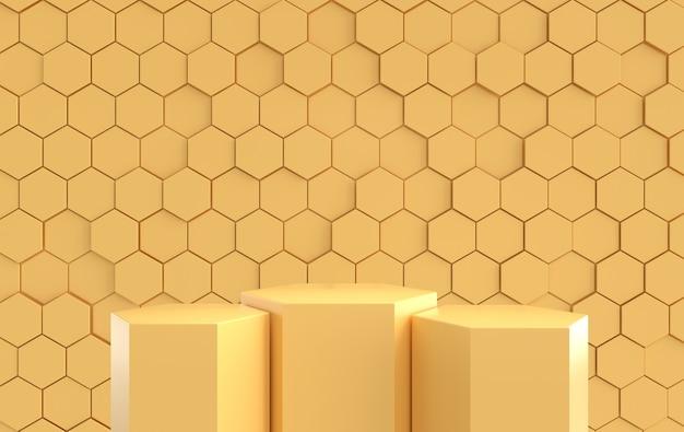 Podium de formes géométriques rendues en 3d plates-formes pour la présentation de produits mock up background