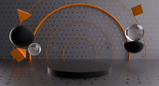 Podium fun rings pour l'affichage