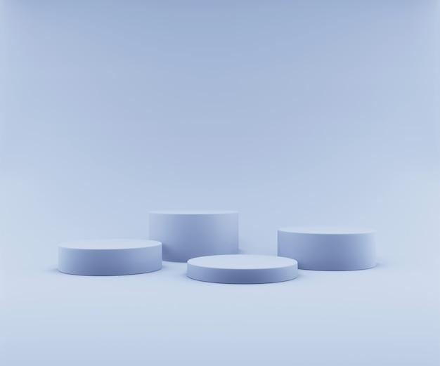 Podium de géométrie abstraite pour l'affichage du produit
