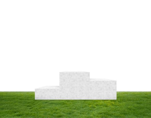 Podium sur l'herbe