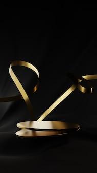 Podium de luxe noir et or