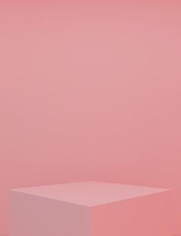 Podium minimal avec fond rose pour produit