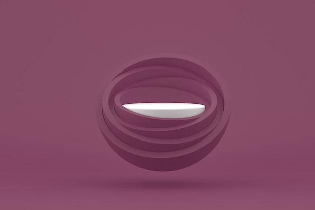 Podium minimal sur fond violet pour la présentation des produits cosmétiques