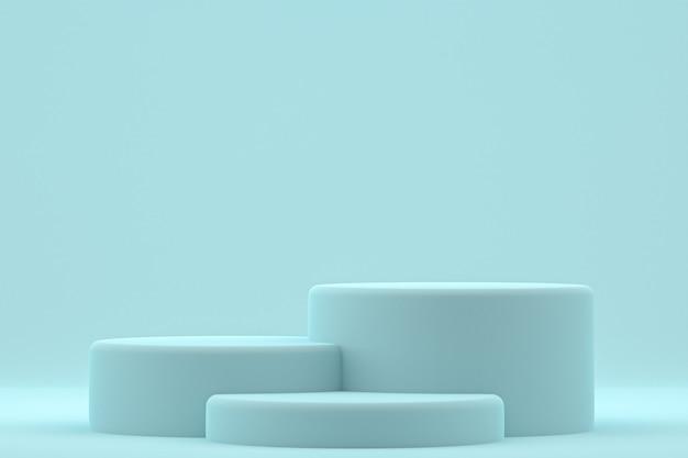 Podium minimal ou stand de produit pour la présentation de produits cosmétiques