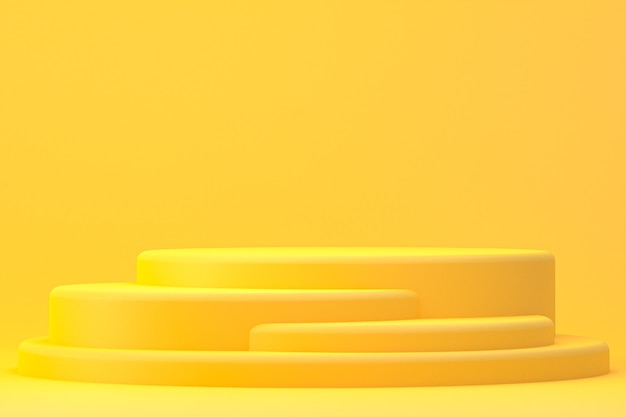 Podium minimal ou support de produit pour la présentation de produits cosmétiques