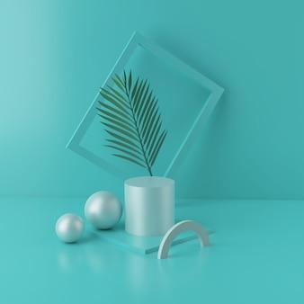 Podium minimal et vitrine vide, étalage de magasin ou support de produit vide