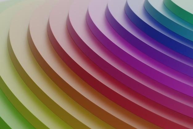 Podium multicolore décoratif