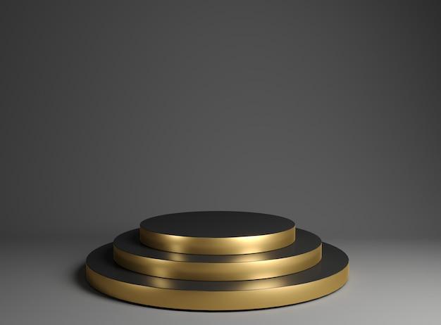 Podium d'or pour l'exposition de marchandises