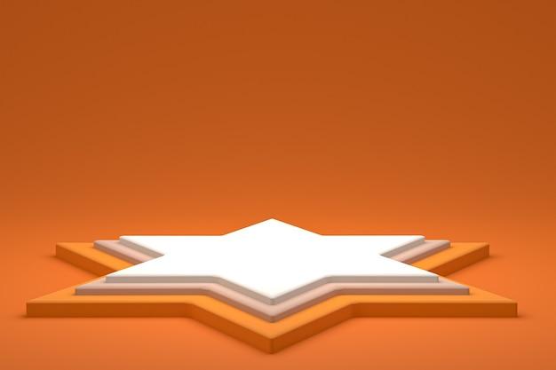 Podium ou piédestal minimal sur fond ccc pour la présentation de produits cosmétiques