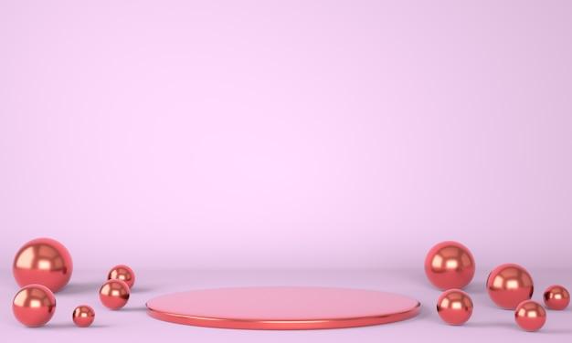 Podium de produit sur fond pastel 3d