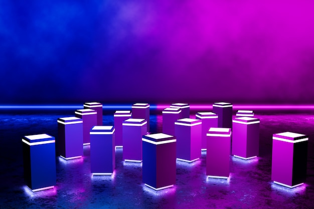 Podium rectangle futuriste