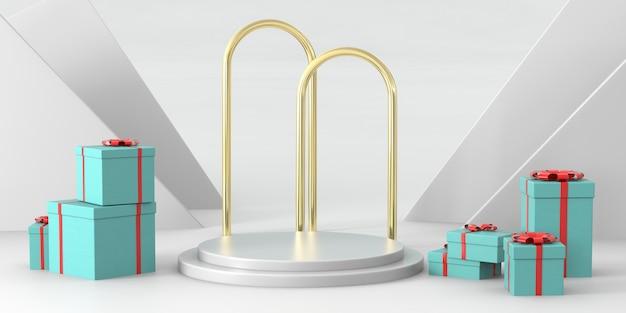 Podium rendu 3d pour produits de luxe