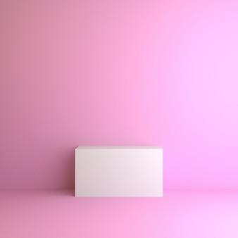 Podium de rendu 3d avec style de conception d'illustration minimale